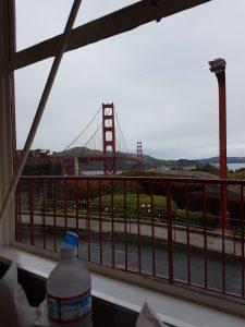 Lunch met uitzicht op de Golden Gatebrug